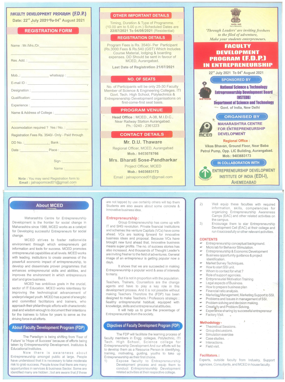 Faculty Development Program(F.D.P)